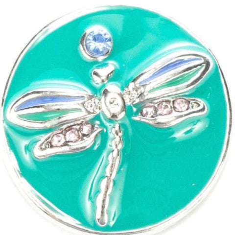 Teal Metal Dragonfly Popper