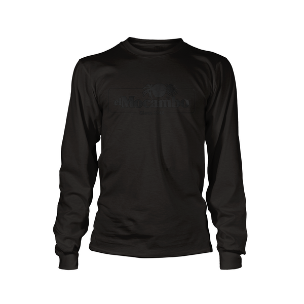 EL MOCAMBO™ RETRO LOGO BLACK ON BLACK UNISEX LONG SLEEVE