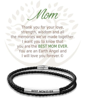 Open image in slideshow, Mom: Leather Bracelet