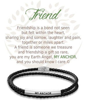 Open image in slideshow, Friend: Leather Bracelet