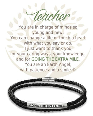 Open image in slideshow, Teacher: Leather Bracelet