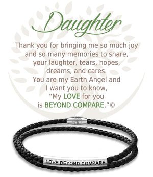 Open image in slideshow, Daughter: Leather Bracelet