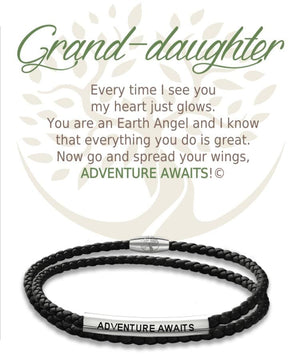 Open image in slideshow, Grand-daughter: Leather Bracelet