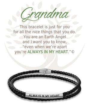 Open image in slideshow, Grandma: Leather Bracelet