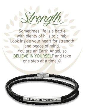 Open image in slideshow, Strength: Leather Bracelet