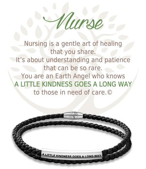 Open image in slideshow, Nurse: Leather Bracelet