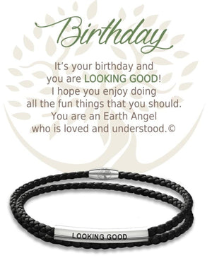 Open image in slideshow, Birthday: Leather Bracelet