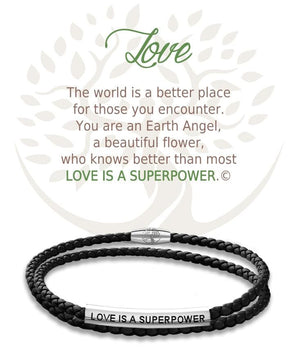Open image in slideshow, Love: Leather Bracelet