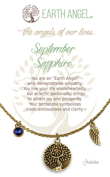 September - Sapphire :: Necklace