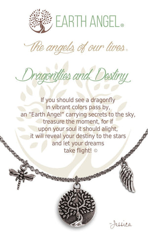 Open image in slideshow, Dragonflies and Destiny: Necklace