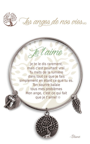 Open image in slideshow, Je t'aime: Bracelet