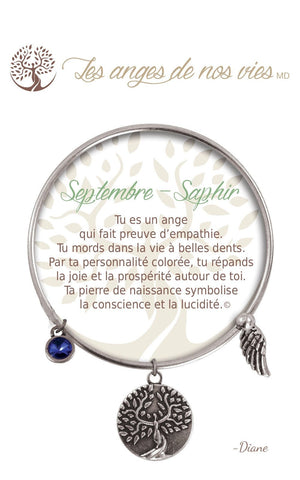 Open image in slideshow, Septembre - Saphir: Bracelet