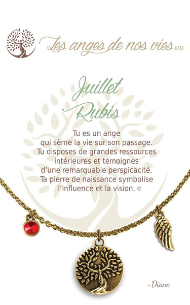 Juillet - Rubis :: Necklace