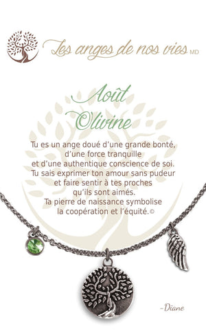 Open image in slideshow, Août - Olivine: Birthstone Necklace
