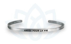Open image in slideshow, Amies pour la vie: Cuff Bracelet