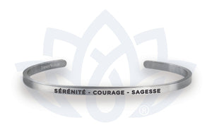 Open image in slideshow, Sérénité - Courage - Sagesse: Bracelet