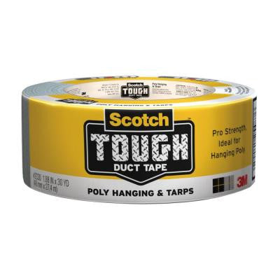 Scotch 1.88 in. x 30 yds. Tough Poly Hanging and Tarps Strength Duct Tape