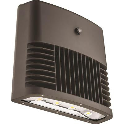 Bronze Dusk to Dawn Outdoor LED Low Profile Wall Pack (5000K)