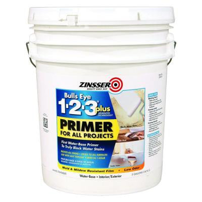 5 gal. Bulls Eye 123 Plus Interior/Exterior Water-Based Primer