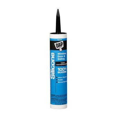 10.1 oz. Black 100% Silicone Window, Door and Siding Sealant (12-Pack)