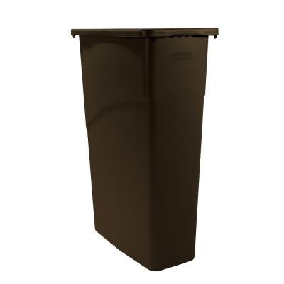 Slim Jim 23 Gal. Brown Rectangular Trash Can