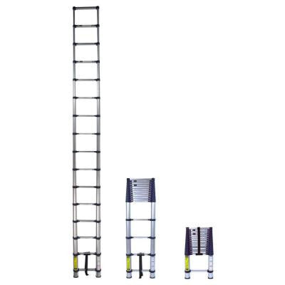 15.5 ft. Telescoping Aluminum Extension Ladder with 255 lb. Load Capacity Type I Duty Rating