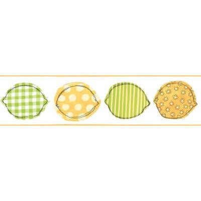 6 in. Printed Lemons Border