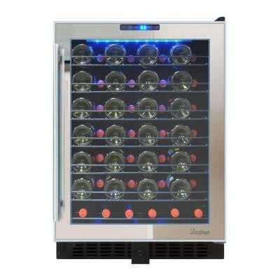 23.5 in. 54-Bottle Touch Screen Mirrored Wine Cooler