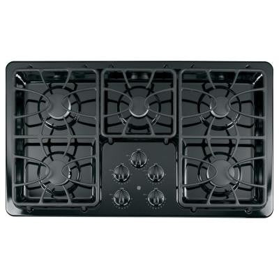 36 in. Gas Cooktop in Black with 5 Burners including 2 Precise Simmer Burners