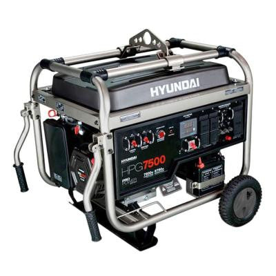 7,500-Watt Gasoline Powered Portable Generator with Electric Start - CARB Approved