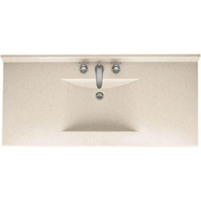 Contour 49 in. W x 22 in. D x 10-1/4 in. H Solid-Surface Vanity Top in Tahiti Sand with Single Bowl