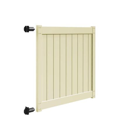 5 ft. x 5 ft. Sand Vinyl Un-Assembled Fence Gate for Bryce and Washington Series Fences