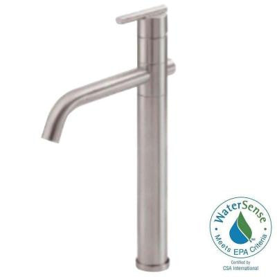 Parma Single Hole 1-Handle High-Arc Bathroom Vessel Faucet in Brushed Nickel (DISCONTINUED)