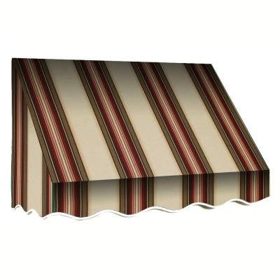 8 ft. Savannah Window/Entry Awning (44 in. H x 36 in. D) in Brown/Terra Cotta Stripe