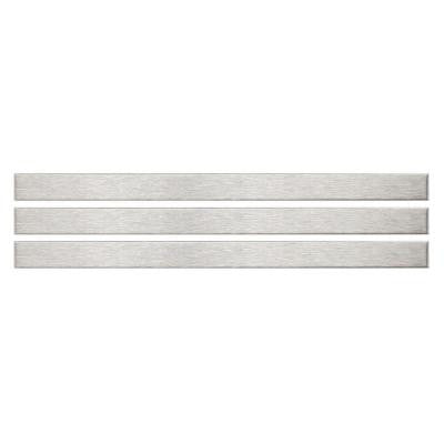 Alloy Stick 3/8 in. x 5-3/4 in. x 8 mm Stainless Steel Over Porcelain Wall Trim Tile (3-Pack )