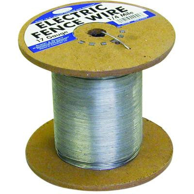1/4 Mile 17-Gauge Galvanized Electric Fence Wire