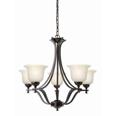 Ironwood 5-Light Brushed Bronze Chandelier