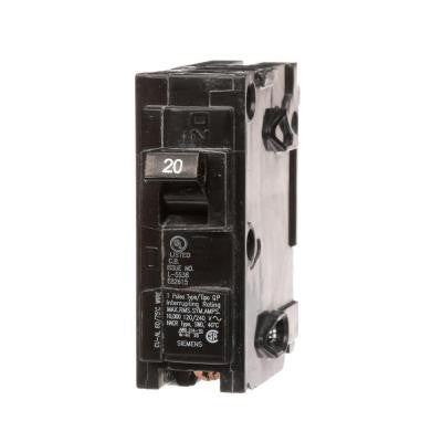 20 Amp Single-Pole Type QPH 22kA Circuit Breaker