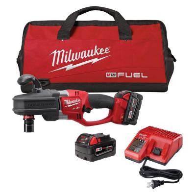 M18 FUEL 18-Volt Brushless Lithium-Ion 1/2 in. Hole Hawg Right Angle Drill Kit with Quick-Lok