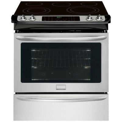 Gallery 30 in. 4.6 cu. ft. Slide-In Electric Range with Self-Cleaning Convection Oven in Stainless Steel