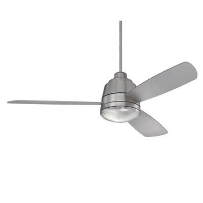 Thuban 52 in. Satin Nickel Indoor/Outdoor Ceiling Fan