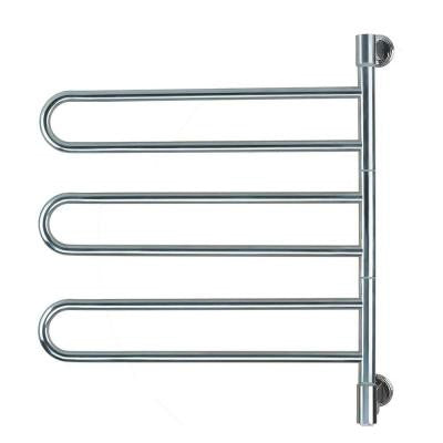 Swivel Medium Jill Plug-In 25 in. W x 29.25 in. H 6-Bar Electric Towel Warmer in Polished Stainless Steel
