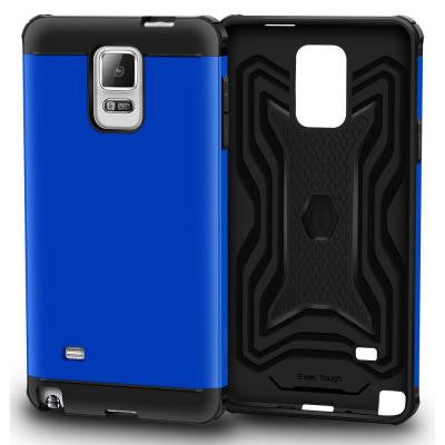 Slim Fit EXEC Armor Hybrid PC TPU Case for Galaxy Note 4 - Blue