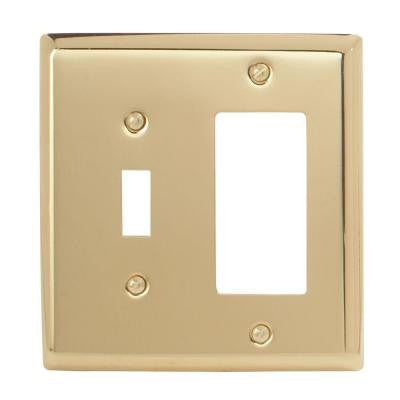 Madison 1 Toggle 1 Decora Wall Plate - Polished Brass
