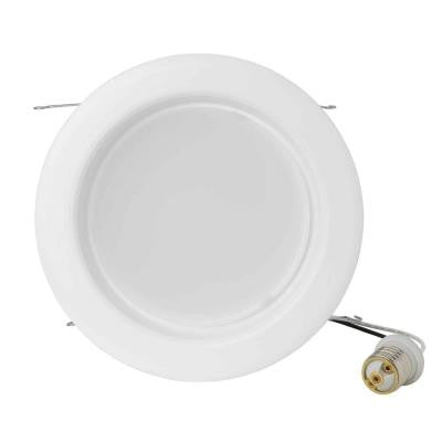 6 in. White Recessed LED Universal Driver (100-277VAC) Non-Dimmable Down Lighting Can Kit