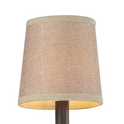 Veronica 5 in. Tan Textured Linen Shade