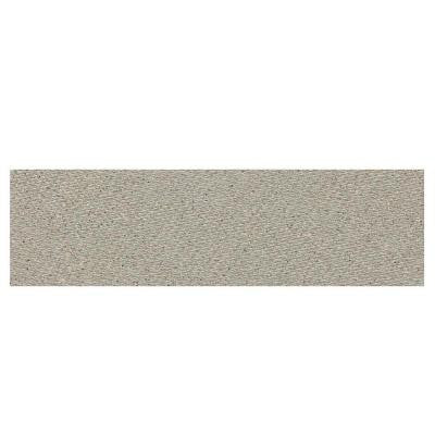 Identity Cashmere Gray Fabric 4 in. x 12 in. Porcelain Bullnose Floor and Wall Tile