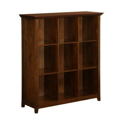 Acadian 9-Cube Storage Bookcase in Dark Tobacco Brown Stain