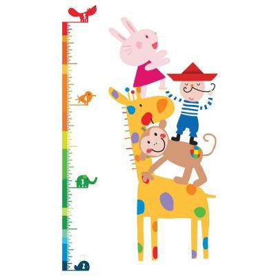 5 in. x 19 in. Lazoo Growth Chart Peel and Stick Wall Decals