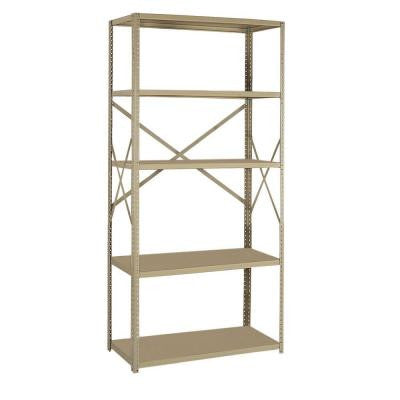 36 in. W x 75 in. H x 24 in. D Steel Commercial Shelving Unit
